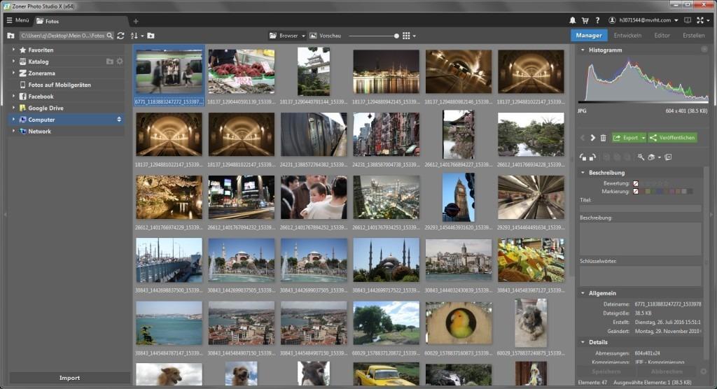 Resultado de imagen para Zoner Photo Studio X 19