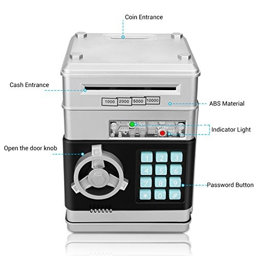 zonkin cartoon electronic atm password piggy bank moneda en