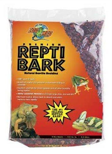 zoo med reptil corteza de abeto ropa de cama, 4 cuartos