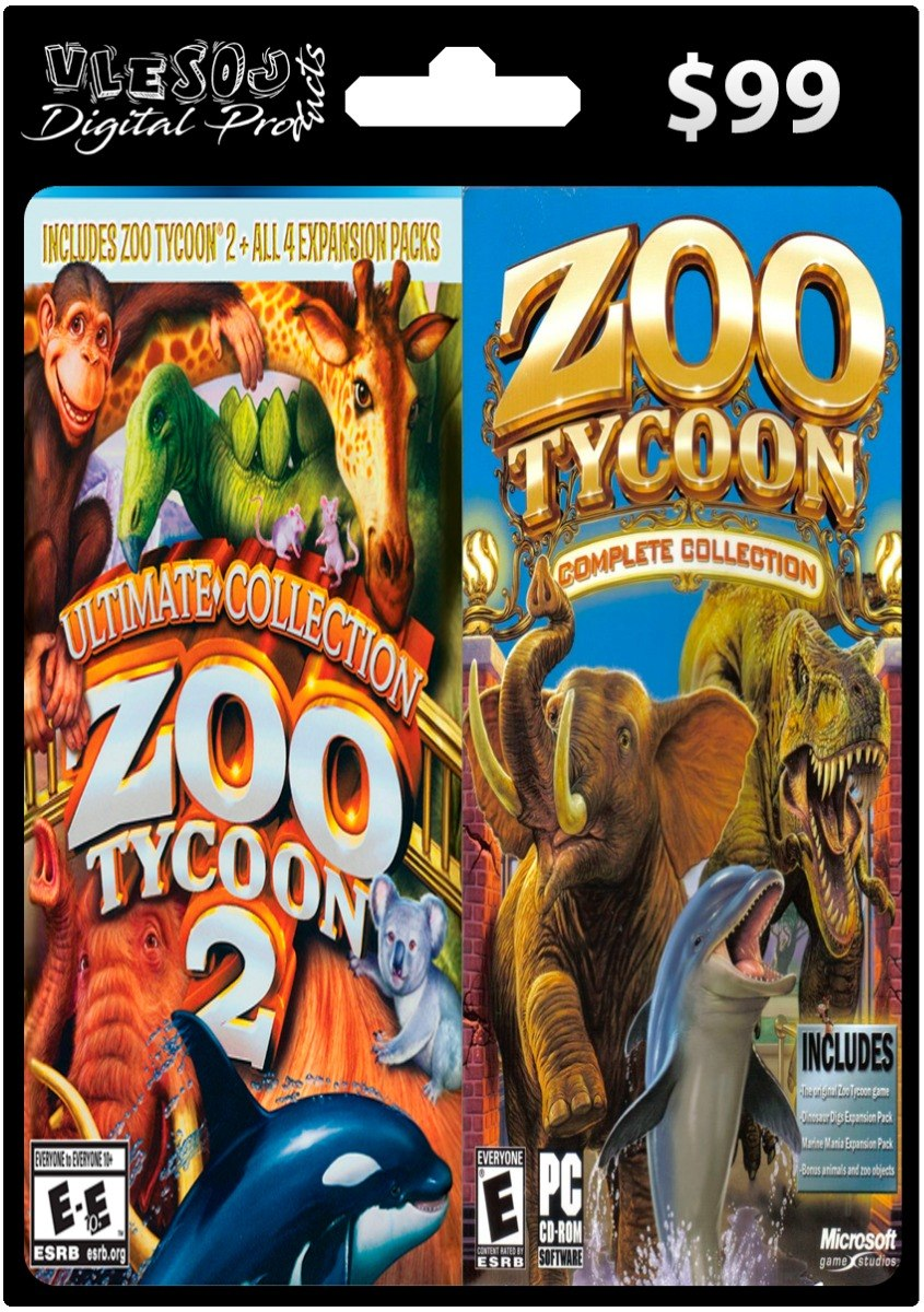 Zoo Tycoon 1 Y 2 Ultimate Collection Pc - Vlesoj Digital S