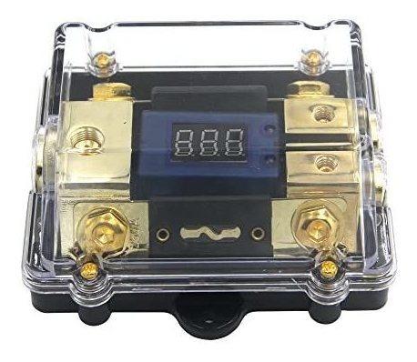zookoto 250a portafusibles, car audio estéreo led pantalla v