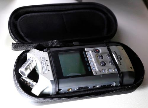 zoom h4n case  porta gravador tb tascam dr-100 e dr-40.