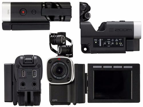 zoom q4 grabador pro portatil audio video hd camara +sd 16gb