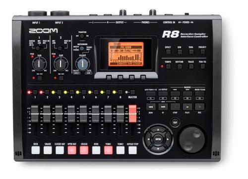 zoom r8 grabadora digital portátil interfaz usb controla 6pa