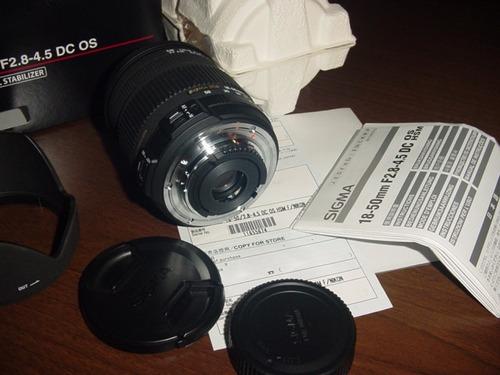 zoom sigma 18-50mm f/2.8-4.5 ds os hsm para nikon