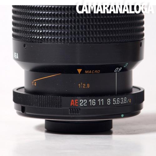 zoom tamron 70-210mm. excelente macro. modelo 46a.