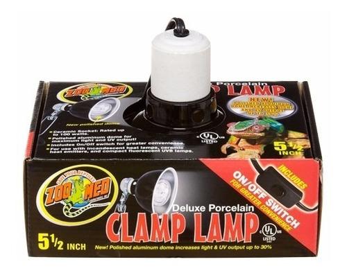 zoomed luminaria refletor 22cm para terrario de reptil lf-12