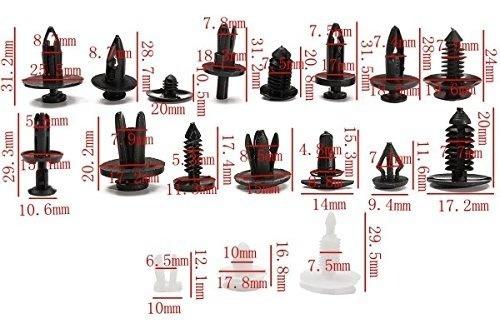Zoostliss 415pcs Car Auto Push Pin Rivet Trim Clip Panel Body Interior Assortment Set