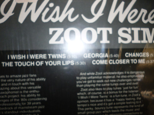 zoot sims i whish i were twis lp nac. 1981