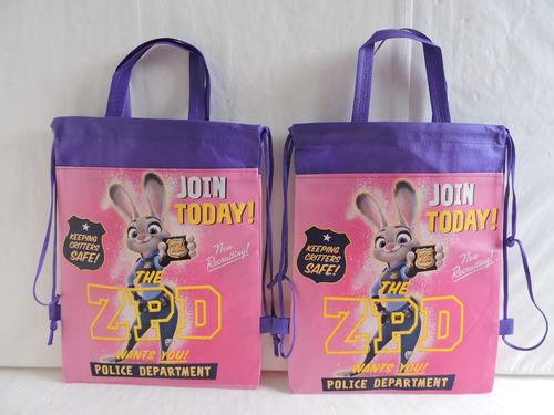 zootopia  dulceros fiestas 10 bolsas regalos recuerdos bolo
