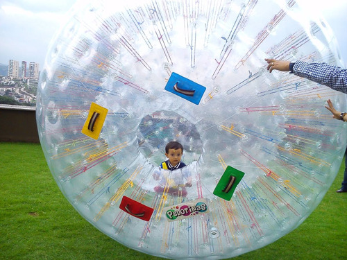 zorb ball / pelota gigante - renta de inflable -esfera pasto