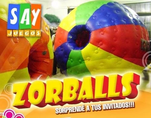 zorb - zorball -  mini samba - toro mecanico - 15-3086-3132