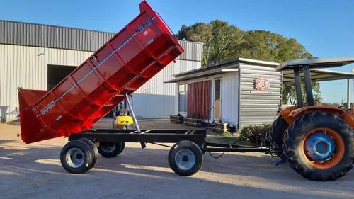 zorra agricola con volcadora hidraulica rdm.