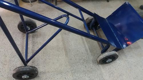 zorra carro carrito porta bultos reforzada 4 ruedas fijas