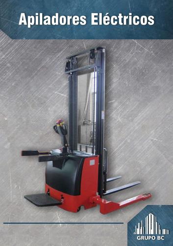 zorra electrica 1500 kg apilador cargador incorporado