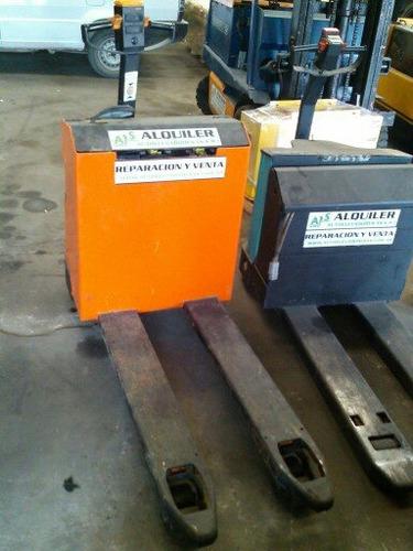 zorra hidraulica  still/ eléctrica 1500 kilos