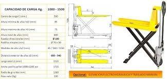 zorra pantografica hidraulica eleva 80 cm del piso 1500 kg