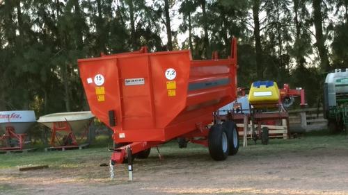 zorra trailer c/ volcadora barandas desmontables y fijas