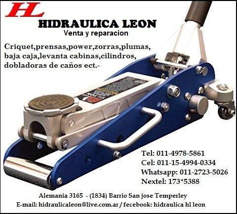 zorras reparación, criquet,prensa hidraulicas ect