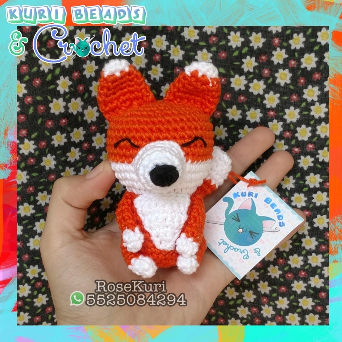 How to crochet fox keychain amigurumi | Patrones amigurumi ... | 1145x1145