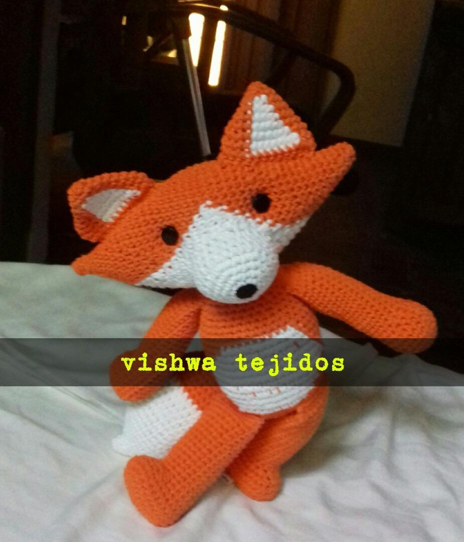 Crochet Animal Crochet Fox Felpa Animal de ganchillo de zorro ... | 1080x925