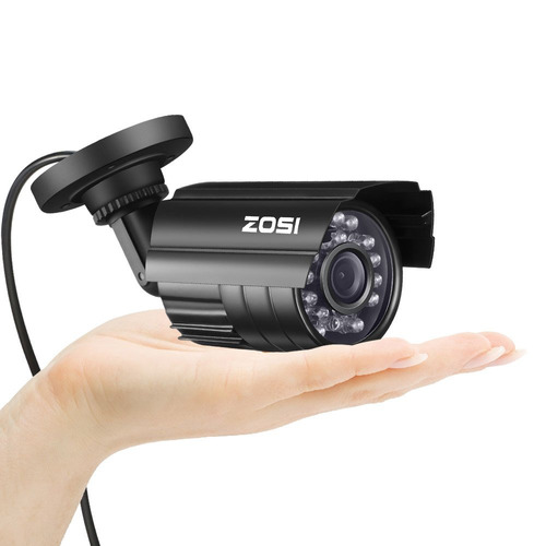 zosi 4pk hd 800tvl 3.6mm lente 24 ir-leds cámara cctv seguri