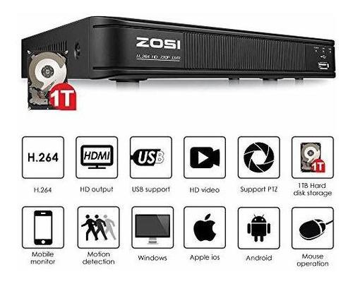 zosi cámara de seguridad interior  exterior 720p