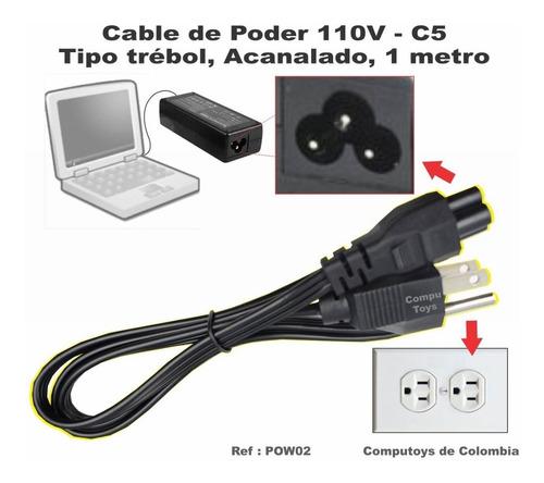 zpow02 cable forma trebol para cargadores 1.5 m computoys