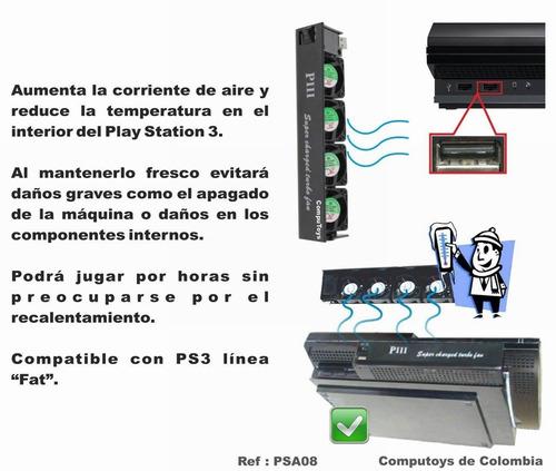 zpsa08 disipador de calor ps3 con 4 ventiladores computoys