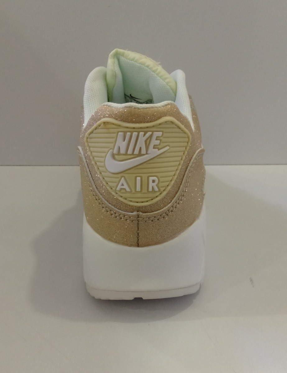 Zpt Nike Air Max 90. Tallas 36 40. Color Dorado Escarchado.