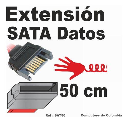zsat50 extension 50cm sata macho-hembra qsat50q compu-toys