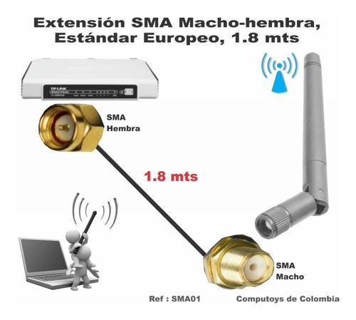 zsma01 extienda antena sma 1.8 metros qsma01q compu-toys
