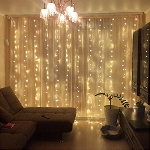 zstbt 300led cortina ventana ligable icicle fairy string...