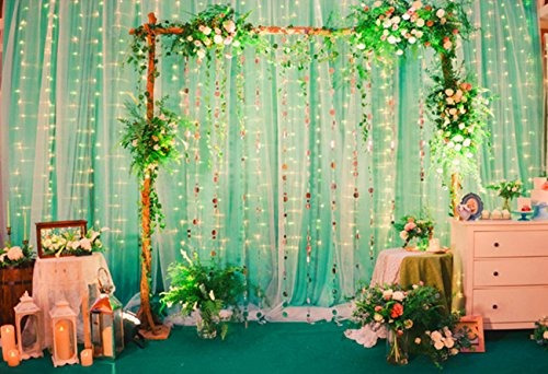 zstbt 300led cortina ventana ligable icicle fairy string...