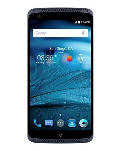 zte axon factory teléfono desbloqueado, 32 gb phthalo blue