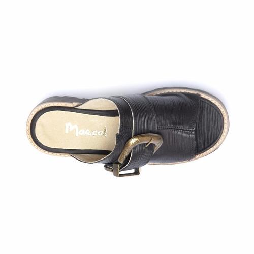 zueco dama en cuero marcel calzados (cod.16108) negro.