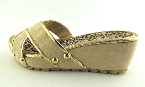 zueco sandalia nenas plataforma oferta liquidación fiestas