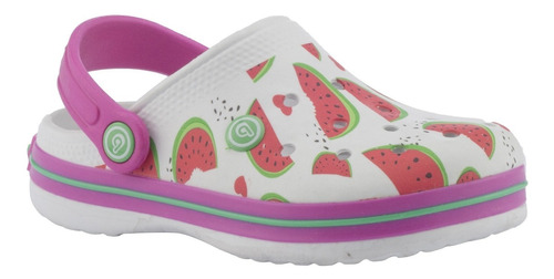 zuecos bamers airline white/watermelon