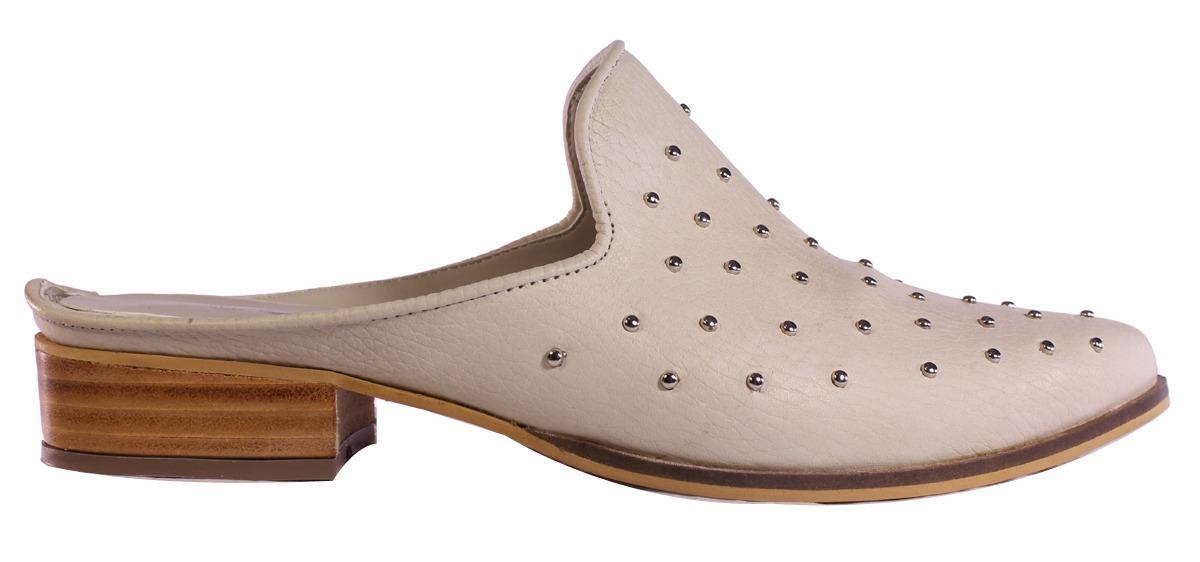 zuecos mujer cuero tachas taco de madera moda tops zapatos. Cargando zoom. a356cee2fdf