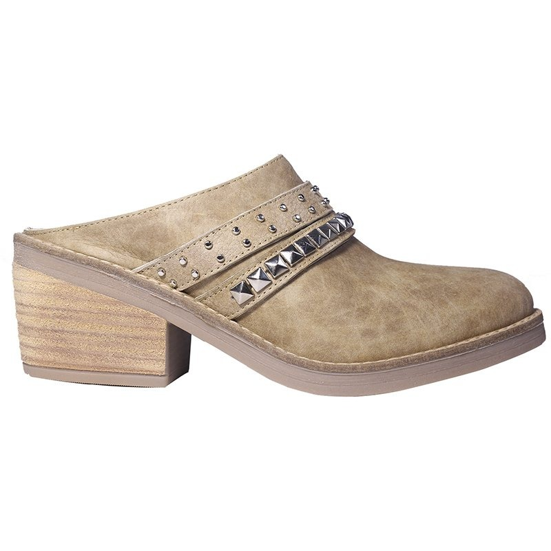 mejores zapatillas de deporte d5e4e 332bf Zuecos Mujer Cuero Zapatos Tachas Accesorios Taco Tops