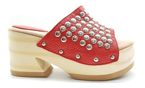 super popular 9ce60 1287c Zuecos Sandalias Mujer Zapatos Plataforma Madera Cuero G&b