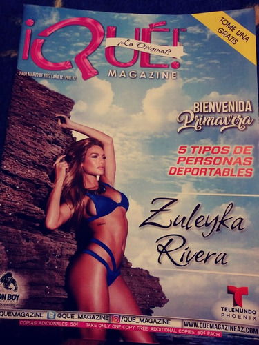 zuleika rivera revista que