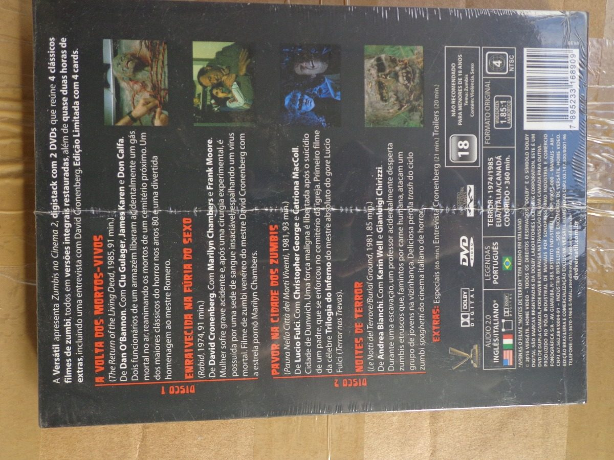 Zumbis No Cinema Vol.2 Digistak Ed. Limitada  70 - Lote - R  110 2119732ab457a