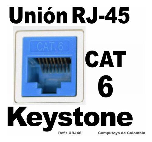 zurj46 keystone cat6 rj-45 unión hembra-hembra computoys