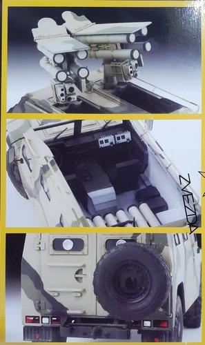 zvezda 1/35 3682 russian armored vehicle gaz tiger w/kornet