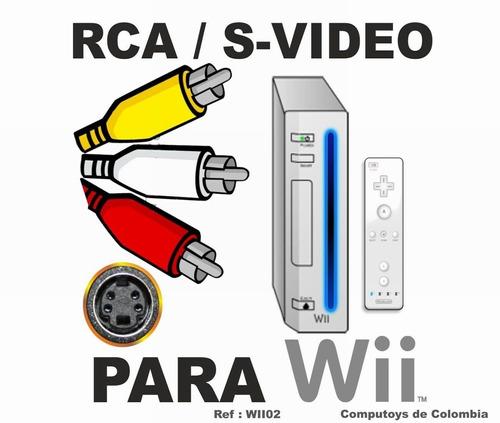 zwii02 conecte wii a tv rca compuesto qwii02q compu-toys