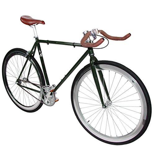zycle fix zf-fgrn-48 bicicleta de engranaje fijo verde bosq