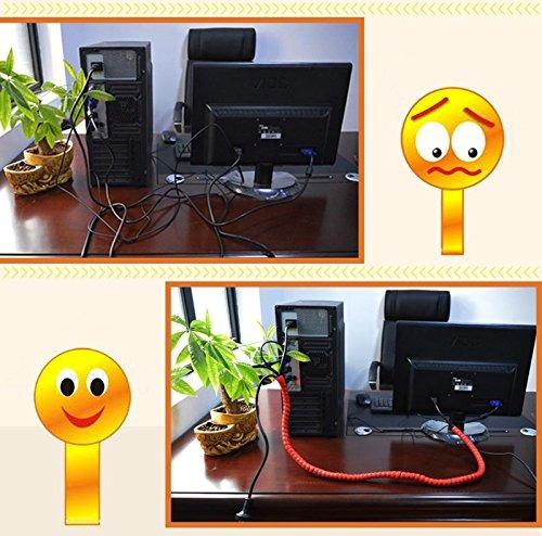 zz iluminación 65 ft 16202530 mm gestión de cables pp de man