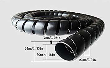 zz iluminación 6.5 pies 30mm gestión de cables pp manguera