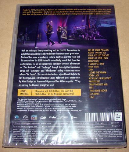 zz top live at montreux 2013 dvd sellado / kktus